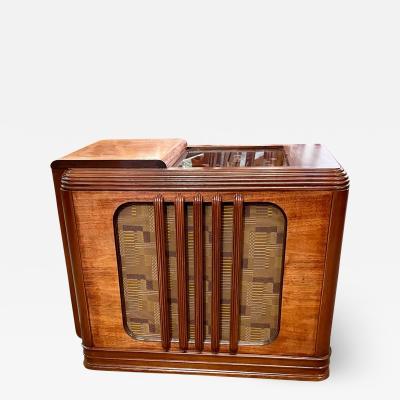 Zenith Electronics Zenith 9S244 1938 Chairside Art Deco Radio