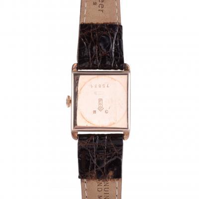 Zenith SA Zenith Art Deco Mens Rose Gold Wrist Watch