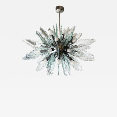 ZeroQuattro Chiseled Glass Sputnik Chandelier by ZeroQuattro