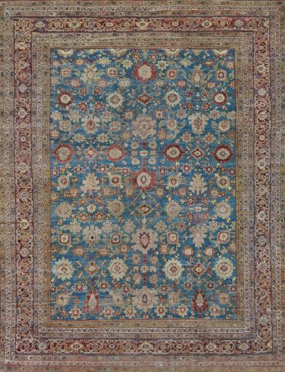 Ziegler Company Antique Handwoven Wool Ziegler Sultanabad Rug