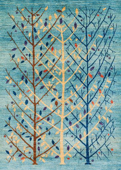 Zollanvari Studio Abstract Winterbound Arboretum Transitional Tribal Super Fine Gabbeh