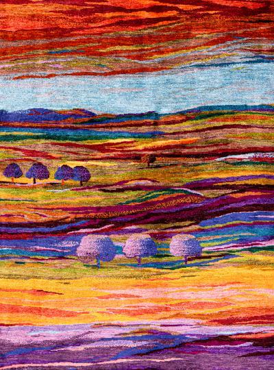 Zollanvari Studio Impressionist Landscapes of my Fatherland 2 Super Fine Gabbeh