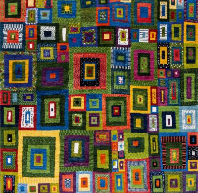 Zollanvari Studio Liquorice All Sorts 4 Squares Revisited Gabbehs Geometric Super Fine Gabbehs