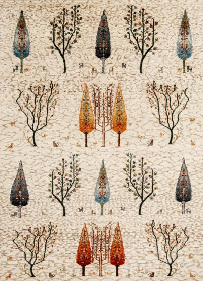 Zollanvari Studio Multiple Trees 4 Gabbehs Flora Fauna Collection Super Fine Gabbeh