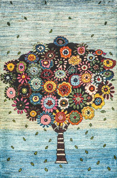 Zollanvari Studio Tree of Hope Joy Tree of Life Gabbehs Flora Fauna Super Fine Gabbeh
