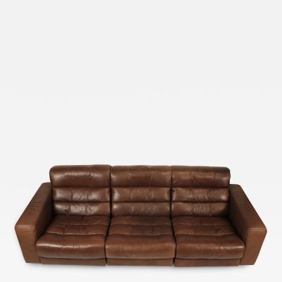 de Sede 1970s De Sede Reclining Sofa in Buffalo Hide Leather