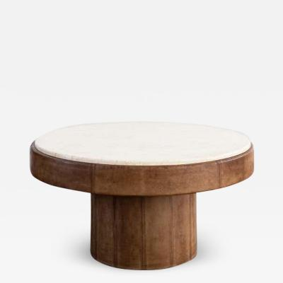de Sede DE SEDE LEATHER COFFEE TABLE