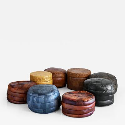 de Sede DE SEDE LEATHER PATCHWORK OTTOMANS