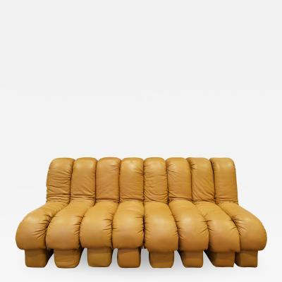 de Sede De Sede 8 Section Armless Non Stop Sofa 1970s