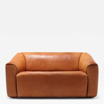 de Sede De Sede DS 47 Cognac Leather Sofa 1970s