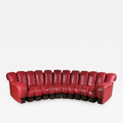 de Sede De Sede DS 600 Sofa in Red Leather Switzerland 1960