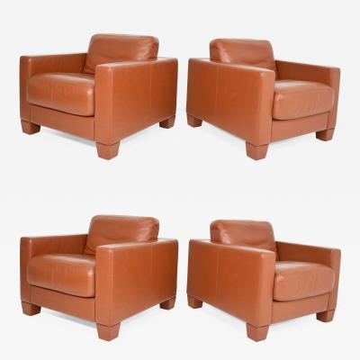 de Sede De Sede Leather Lounge Chairs