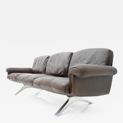 de Sede De Sede Leather Sofa DS 31 with Chrome Base Switzerland 1970s