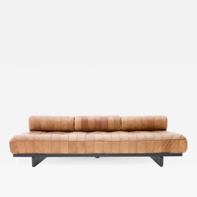 de Sede De Sede Patchwork Leather Daybed DS 80 Sofa Bed Switzerland 1960s