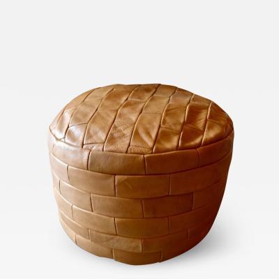 de Sede De Sede Patchwork Leather Pouf