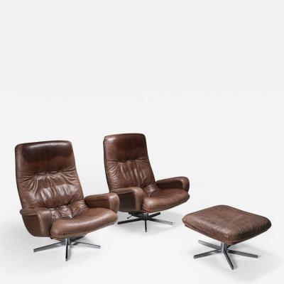 de Sede Lounge Chair Set S231 James Bond by De Sede Switzerland 1969