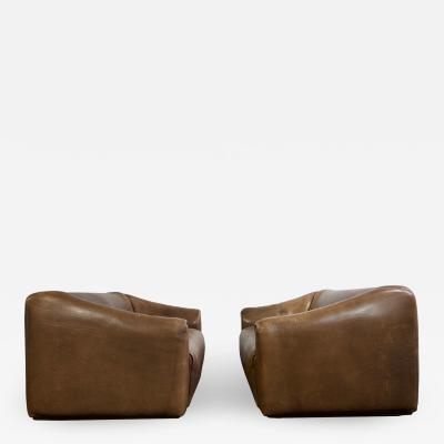 de Sede Pair of De Sede Ds 47 Leather Sofa
