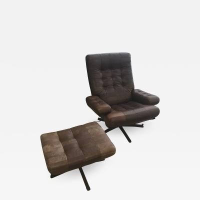 de Sede Swivel De Sede Leather Chair for Mobel