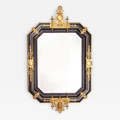 douard Li vre Fine and Rare Octagonal Mirror