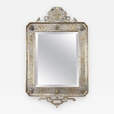 douard Li vre French Japonisme Gilt and Silvered Bronze Wall Mirror by Edouard Lievre