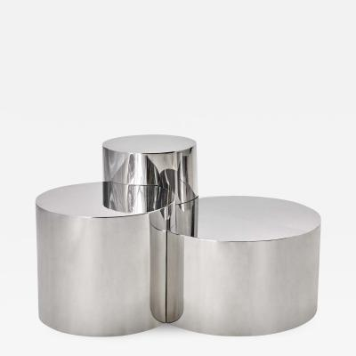 form A Geometria Cerchi 3 Coffee Table Polished Steel Version