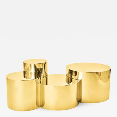 form A Geometria Cerchi 4 Coffee Table Brass Version