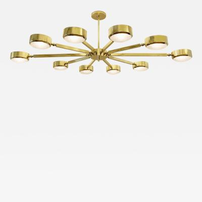 form A Oculus Articulating Ceiling Light Oval Version with Murano Glass
