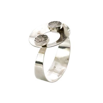 ke Lindstr m Scandinavian Modern Swedish Silver Bracelet by ke Lindstr m 1971