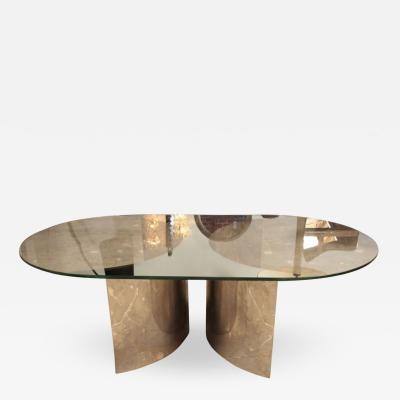 ma 39 Italian Mirror and Steel Table