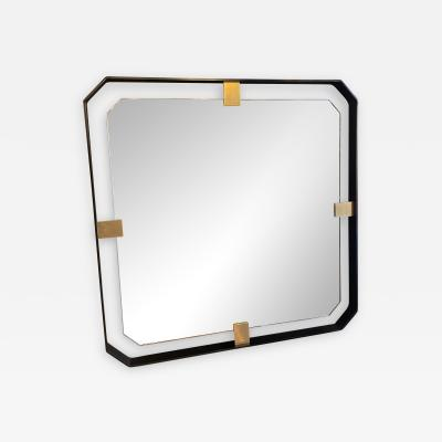 ma 39 MA 39s Iron floating and Brass Square Mirror 21st Century Italy