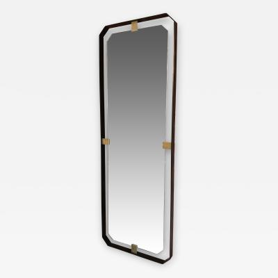 ma 39 MA 39s Oversized Iron floating and Brass Rectangular Mirror Italy