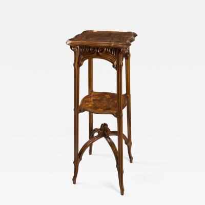mile Gall A French Art Nouveau Wooden Pedestal by Emile Gall