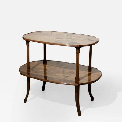 mile Gall Fine Two Tier Marquetry Table
