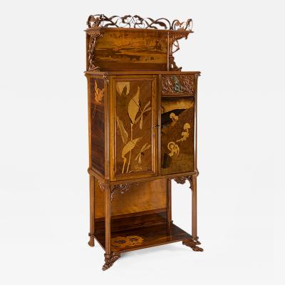 mile Gall French Art Nouveau Cabinet by Emile Gall