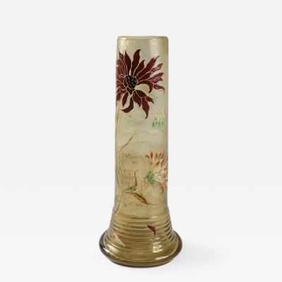 mile Gall French Art Nouveau Cameo Glass Vase by mile Gall