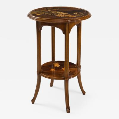 mile Gall French Art Nouveau Rubrum Lily Table by mile Gall