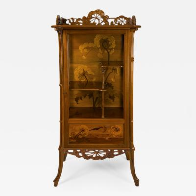 mile Gall French Art Nouveau Vitrine by Emile Gall