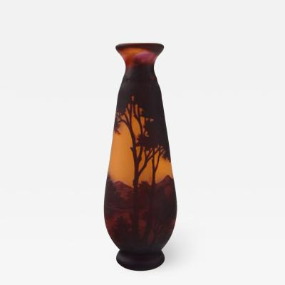 mile Gall Paysage vase in mouth blown art glass