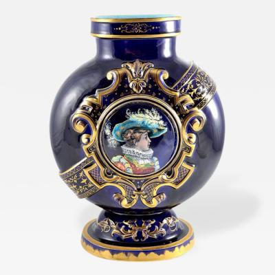 mile Gall Pottery Vase Emile Galle France 19th Century
