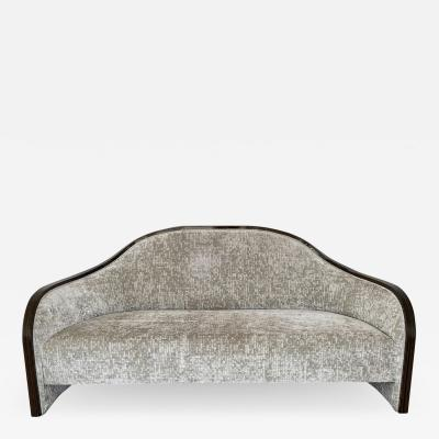 mile Jacques Ruhlmann 1940s French Macassar Sofa Style of Ruhlmann