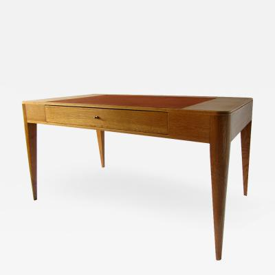 mile Jacques Ruhlmann A French Modern Oak and Leather Desk Emile Jacques Ruhlmann