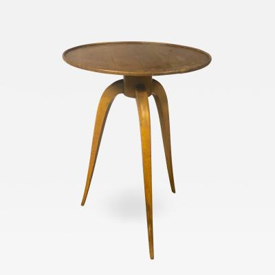 mile Jacques Ruhlmann J R Ruhlmann attributed tripod coffee table