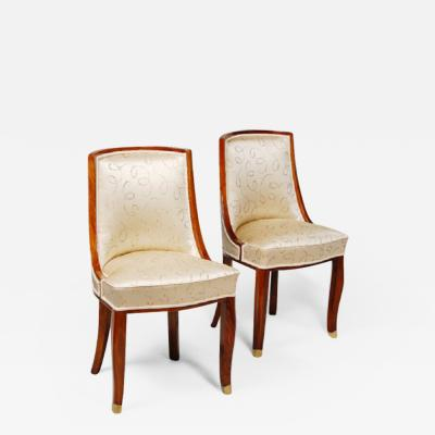 mile Jacques Ruhlmann Petite Art Deco Side Chairs