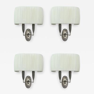 mile Jacques Ruhlmann Ruhlmann Set of Four Sconces France 1925