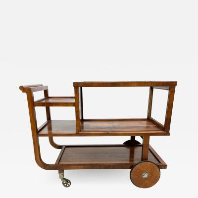 mile Jacques Ruhlmann Trolley Service Bar Cart or Bakery Table in Rosewood Art Deco Period