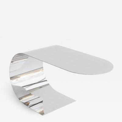 nea studio Cantilever Table polished stainless steel