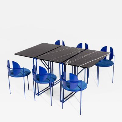 ngel Mombiedro Sculptural Dining Table and Chairs Ensemble by ngel Mombiedro