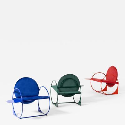 ngel Mombiedro Set of 3 Bullarengue Armchairs by ngel Mombiedro