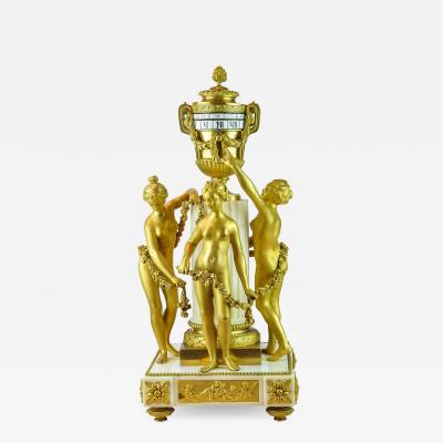 tienne Maurice Falconetv A Fine Louis XVI Style Gilt Bronze and White Marble Mantel Clock