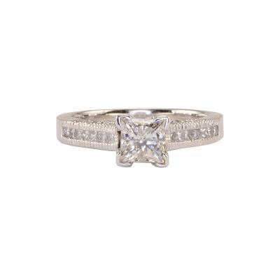 0 83 Carat Princess Cut Diamond Ring